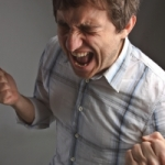 Anger displayed by this man could indicate domestic violence